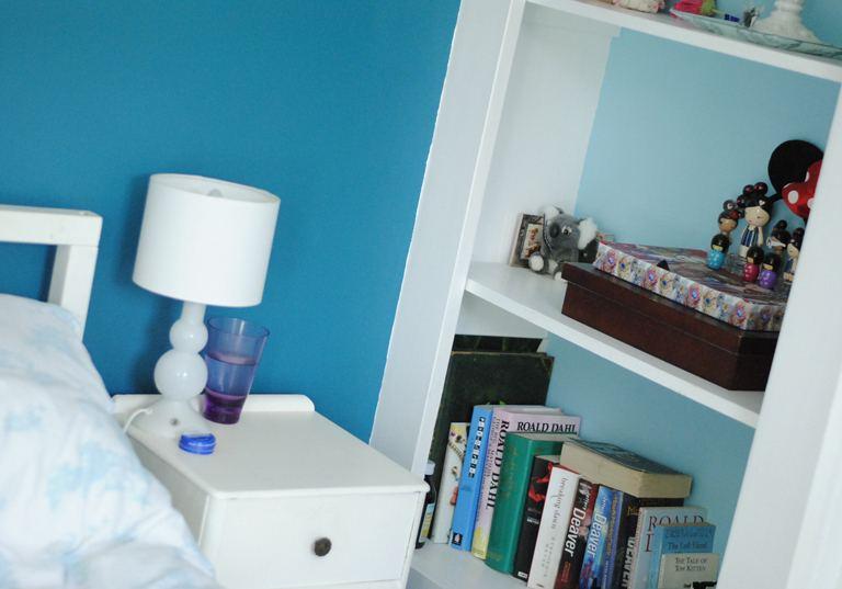blue bedroom tour