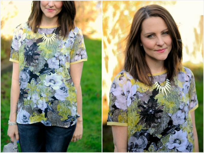 floral tshirt outfit post