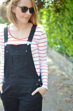 black-dungarees-striped-top