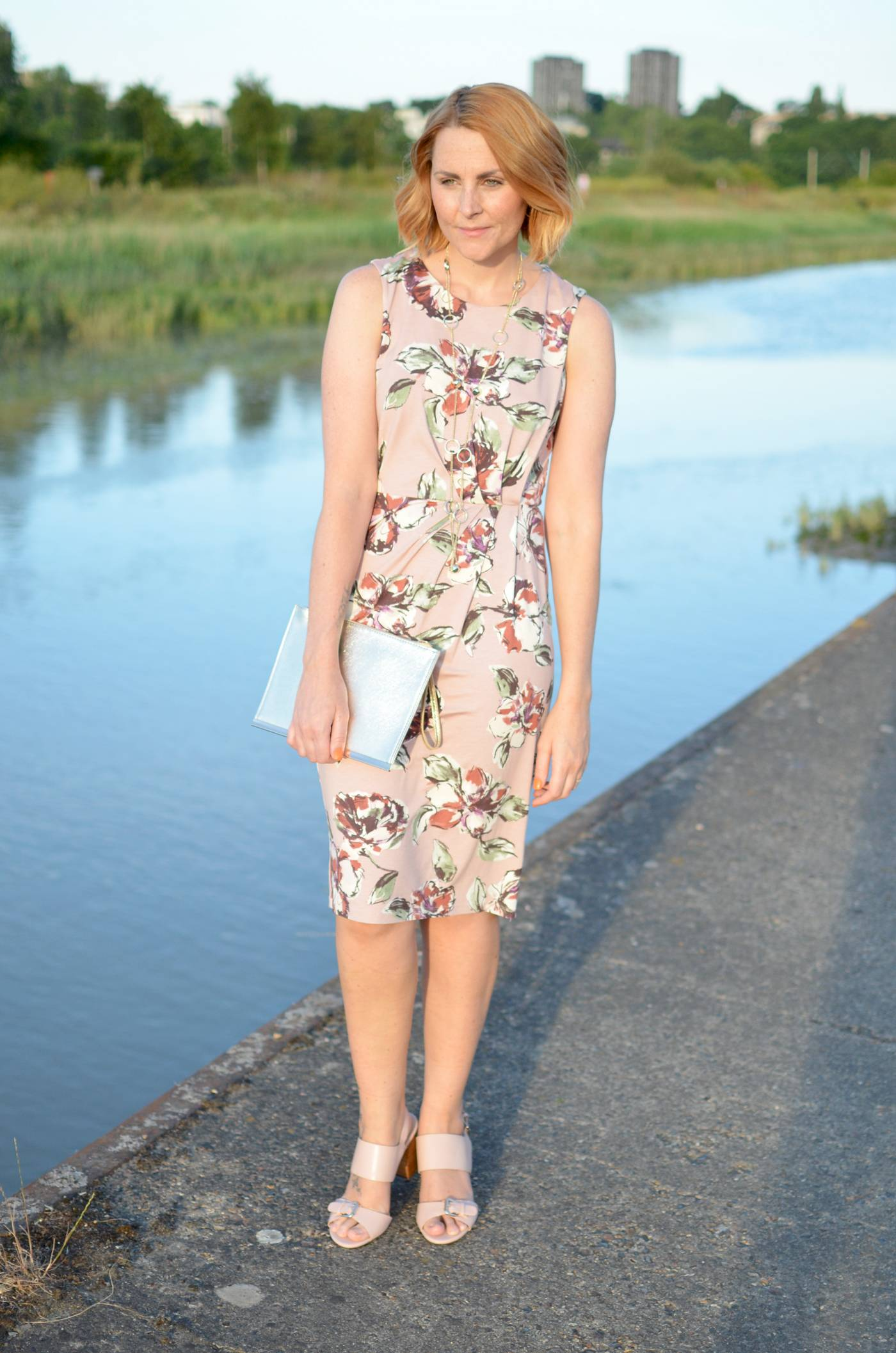 F&F floral shift dress