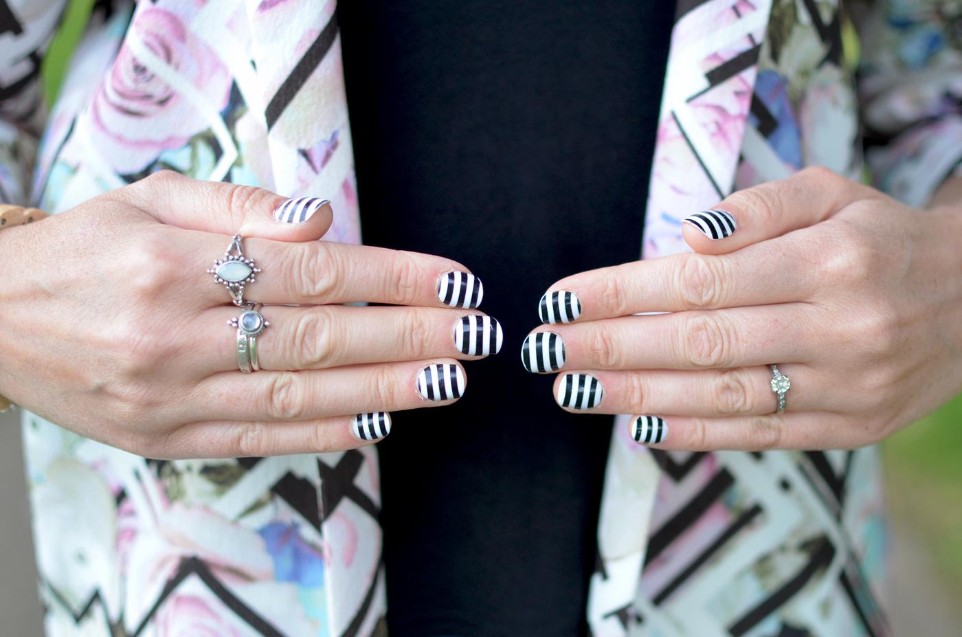 primark striped nails