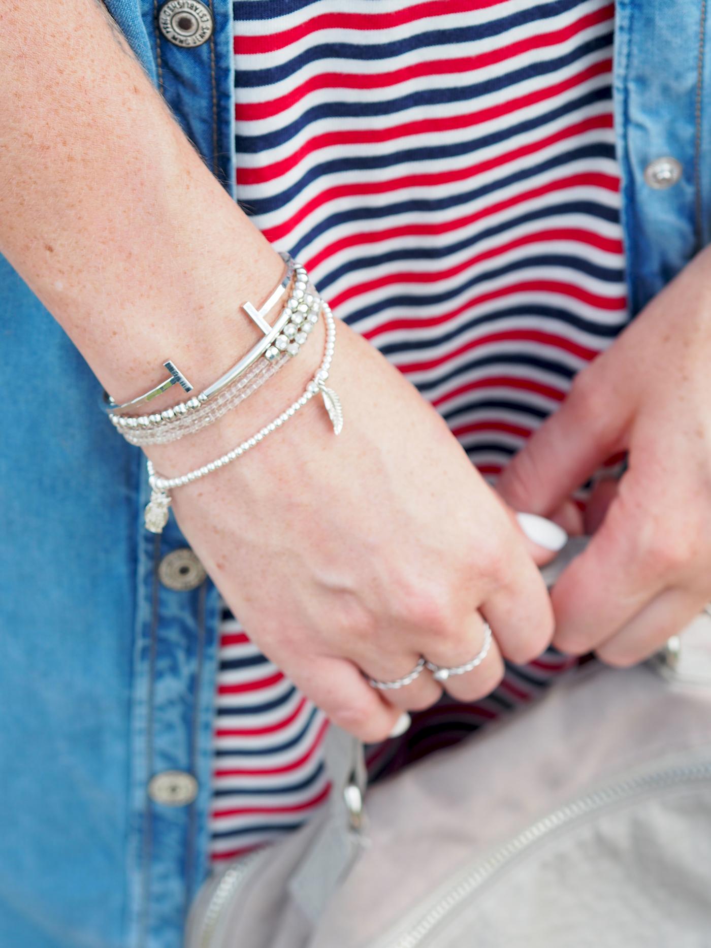 silver stacked bracelets