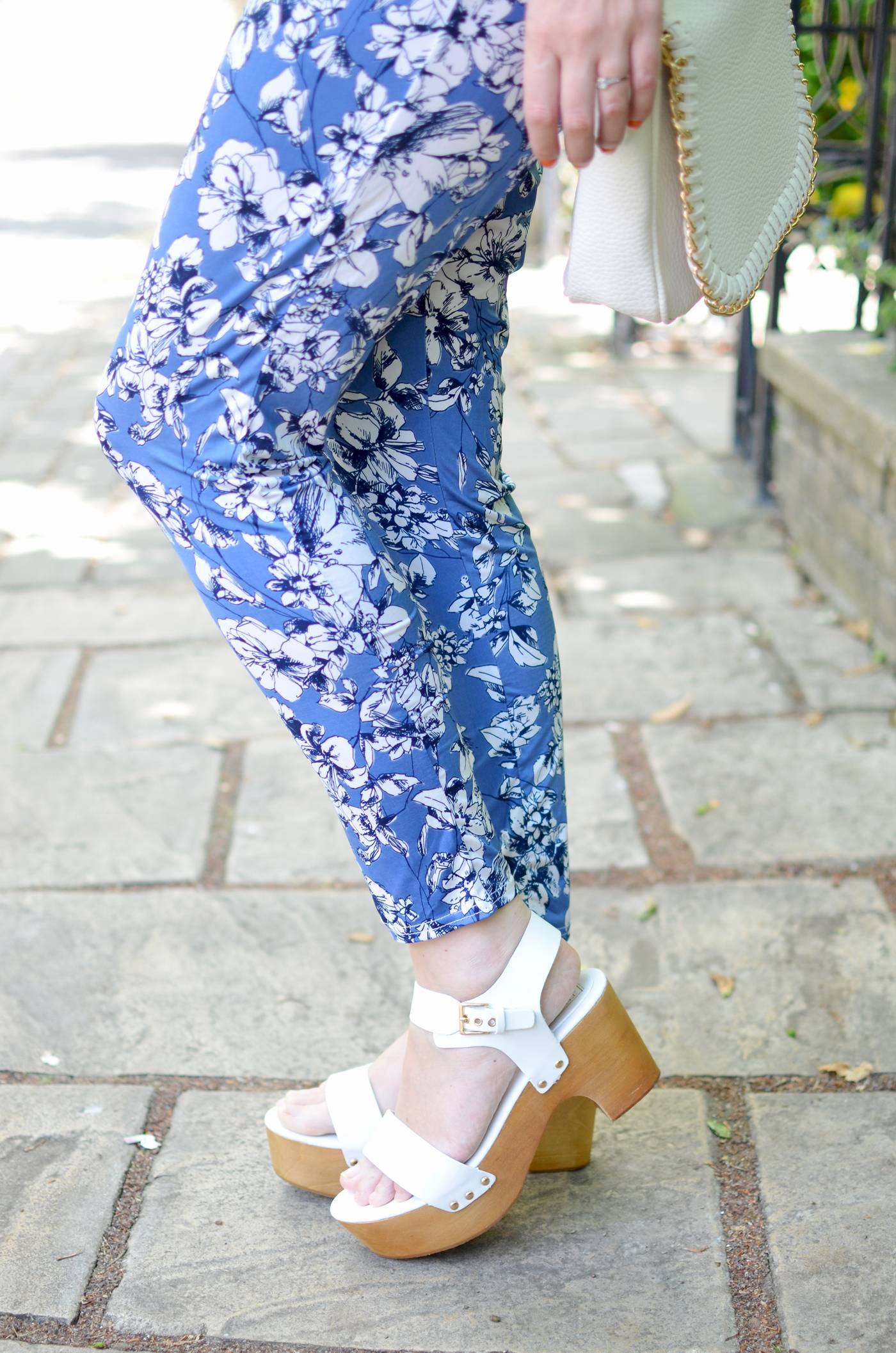 floral trousers boohoo