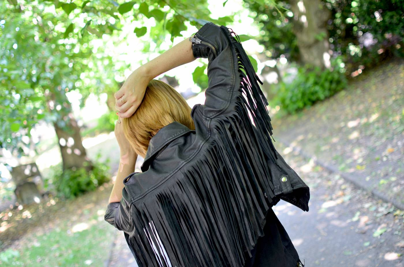 Leather Fringe Jacket superdry