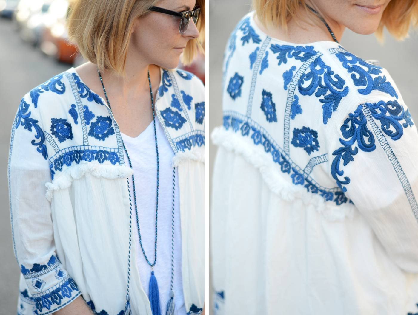 Zara embroidered jacket dupe outfit post bang on style