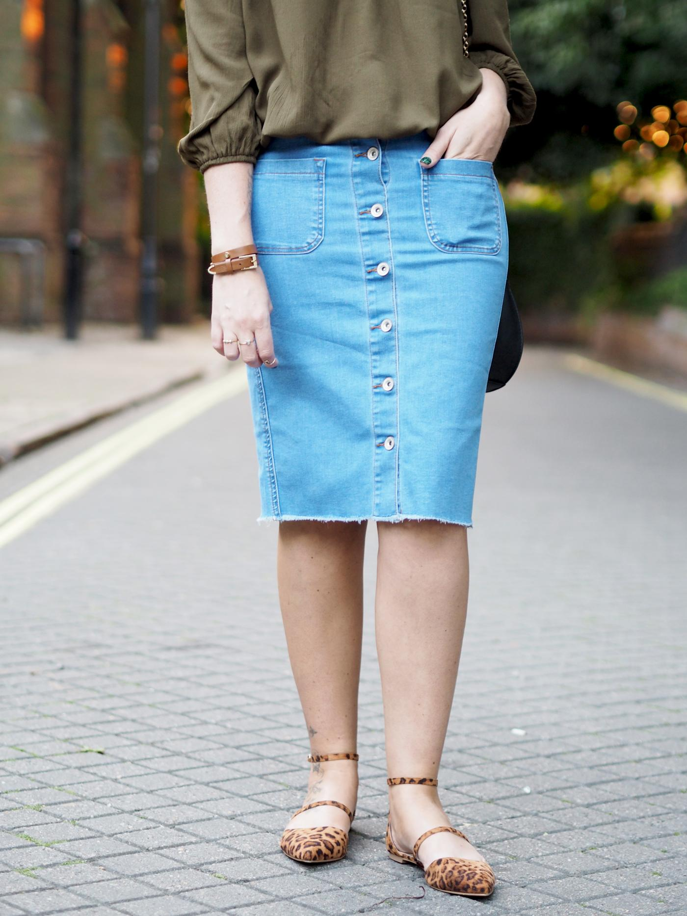 pencil denim skirt knee length | Gommap Blog