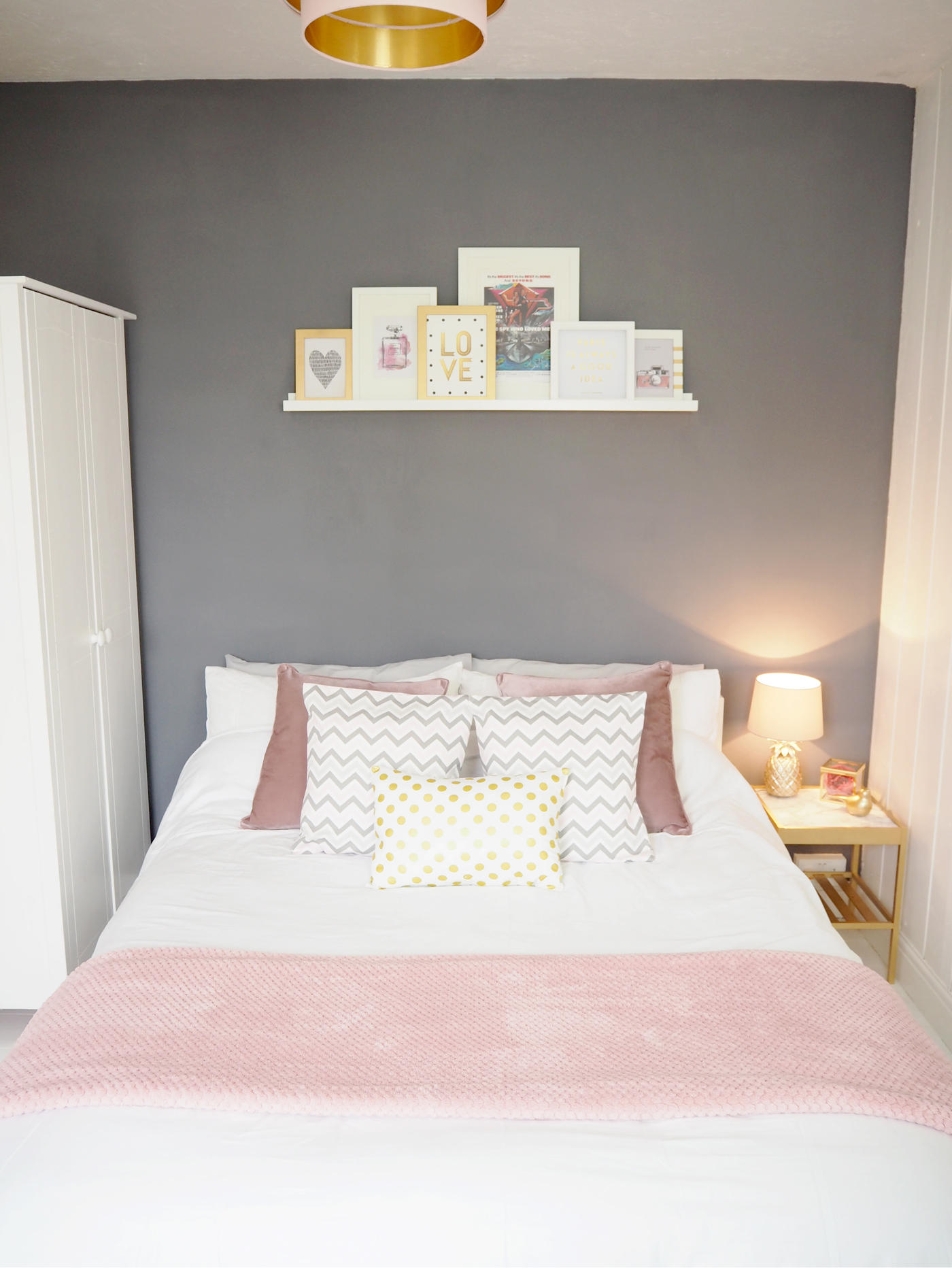 grey pink white bedroom pink amp grey bedroom makeover on style 15505