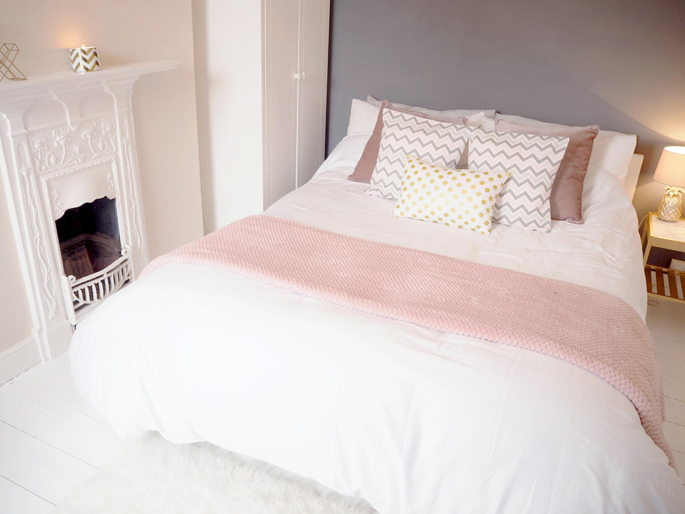 Our New White Pink And Grey Bedroom Decor