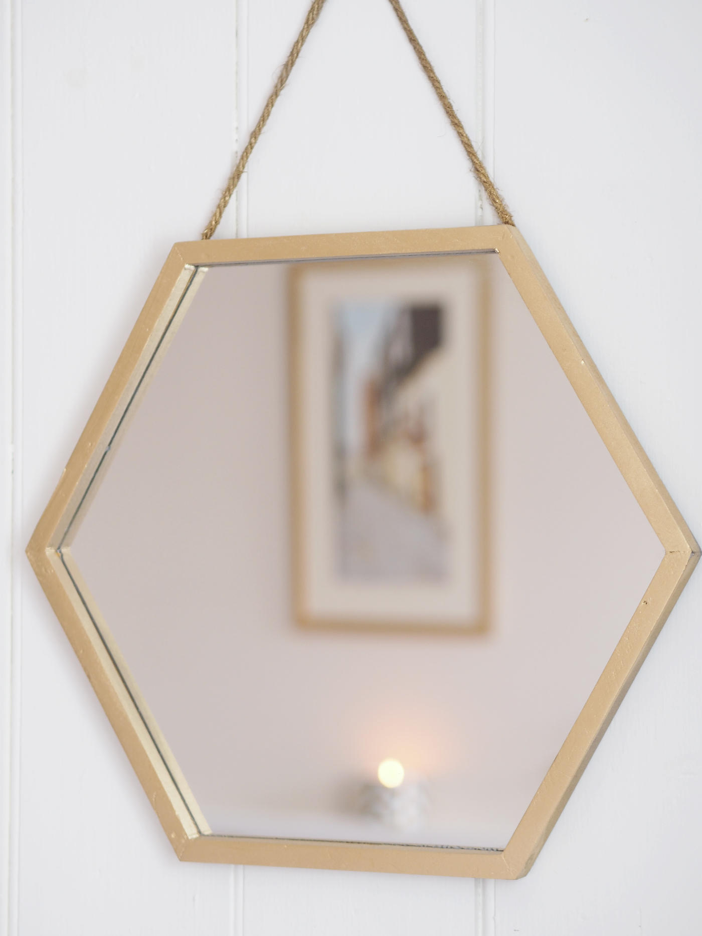 HEXAGONAL GOLD MIRROR