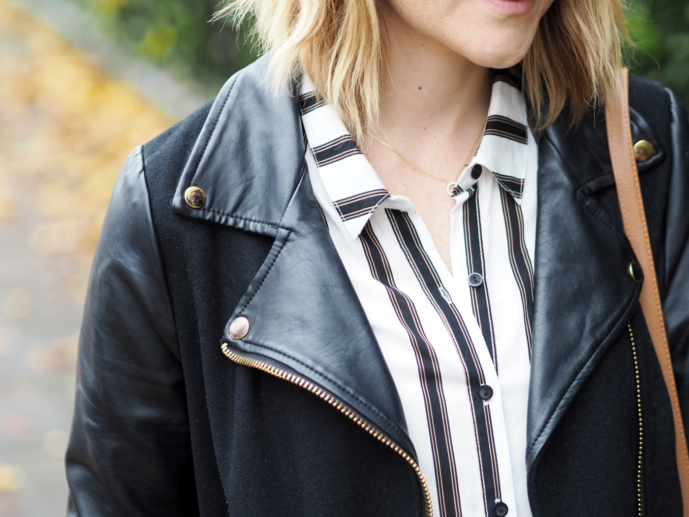 casual outfit biker