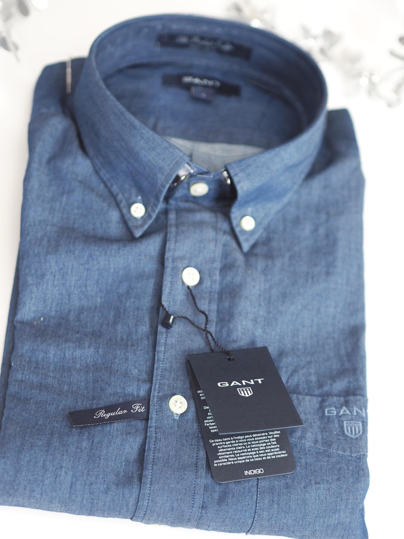 gant indigo shirt