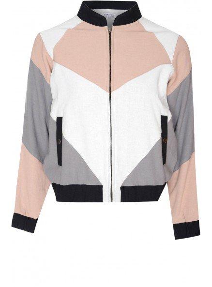geometric bomber jacket