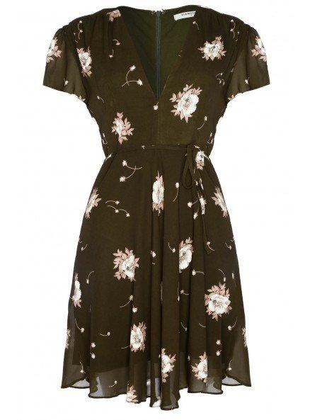khaki tea dress