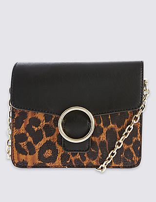 leopard box bag
