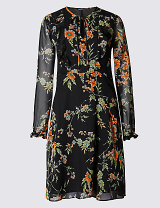 marks and spencers floral dress