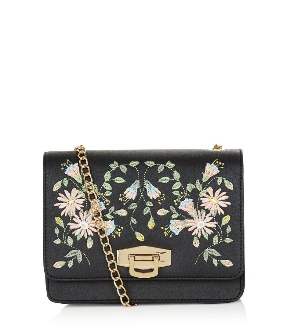new-look- EMBROIDERED bag