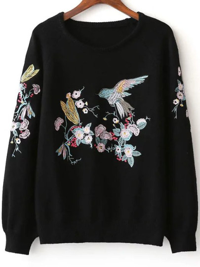 EMBROIDERED JUMPER ROMWE