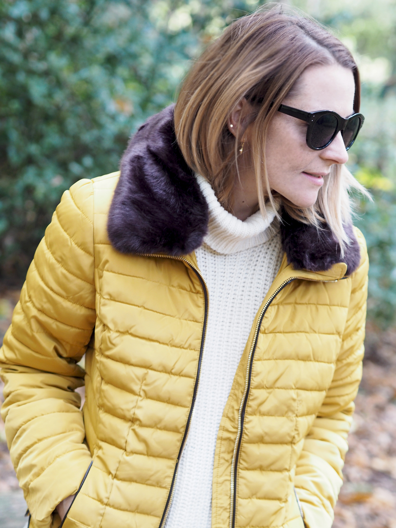 joules mustard padded coat and wellies