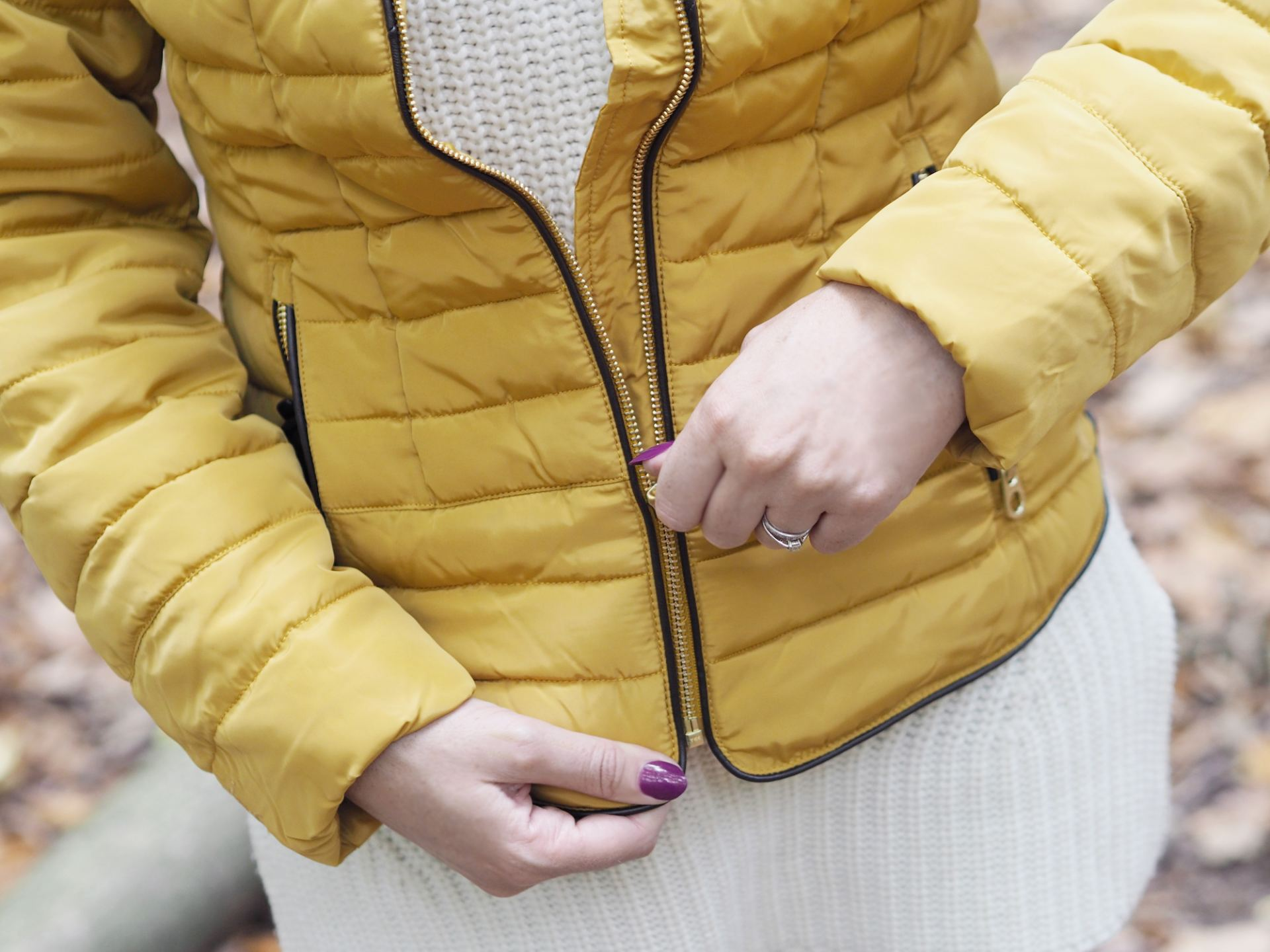joules mustard padded coat