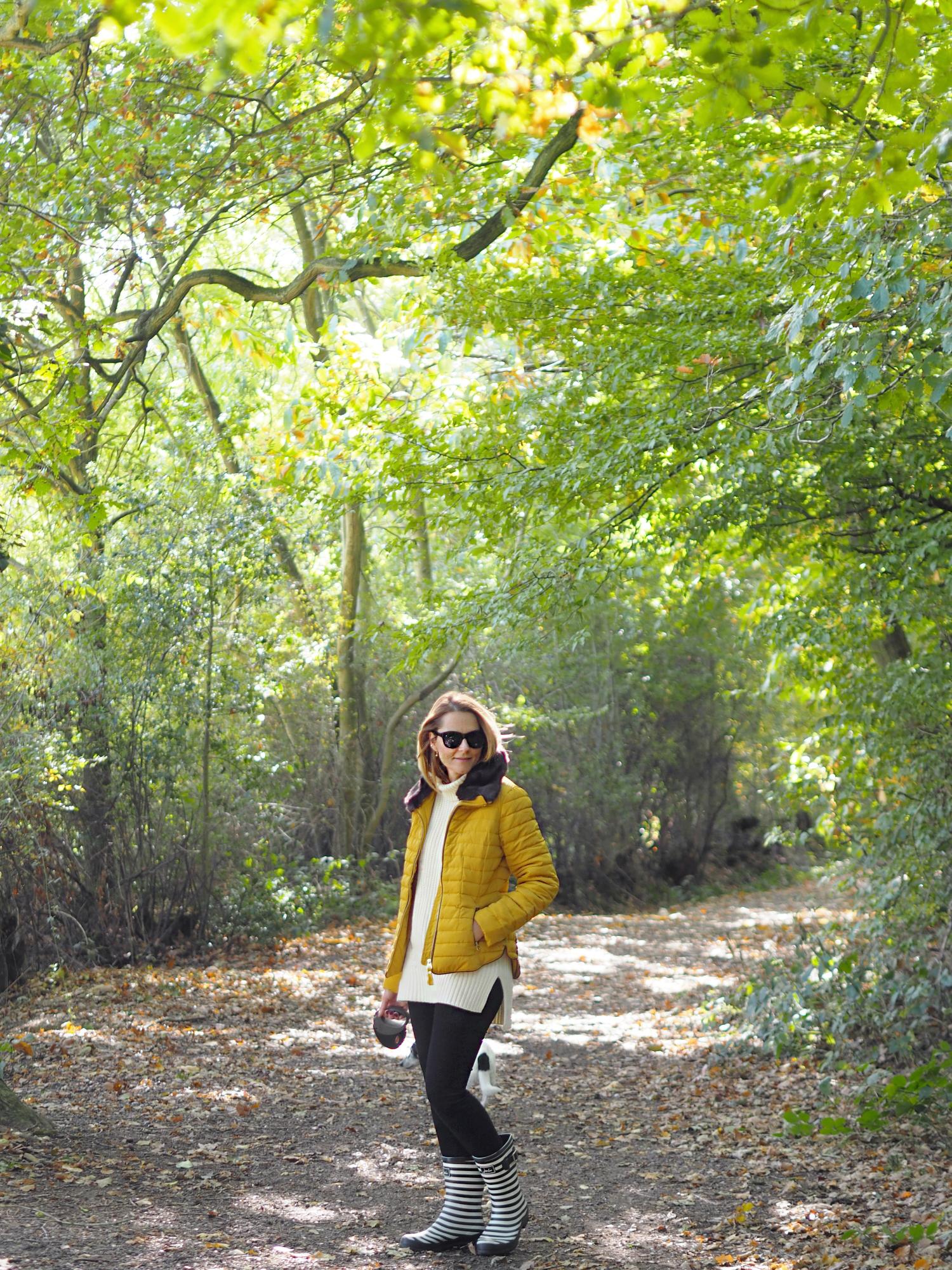 joules padded yellow coat fur hood
