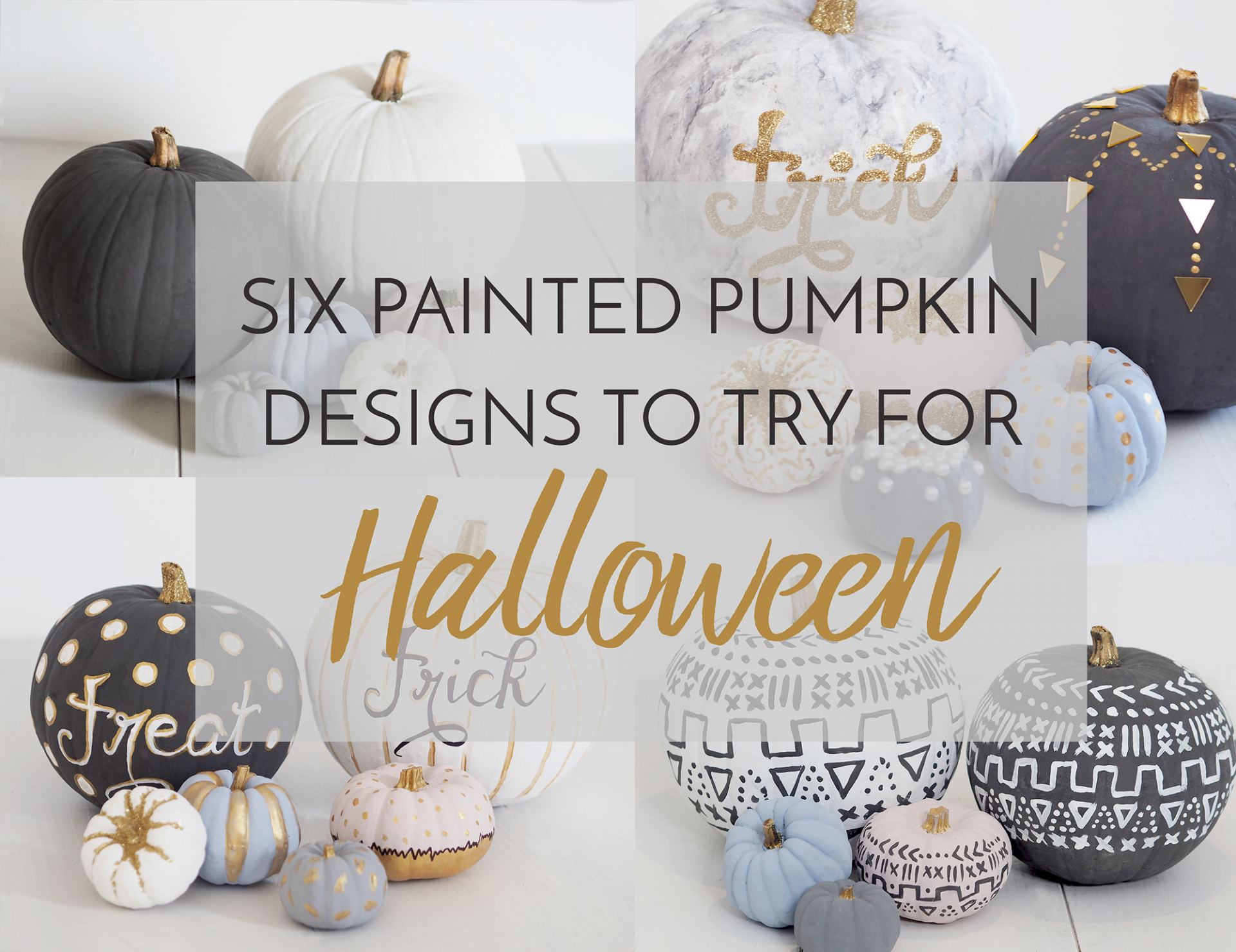 painted pumpkin designs for halloween