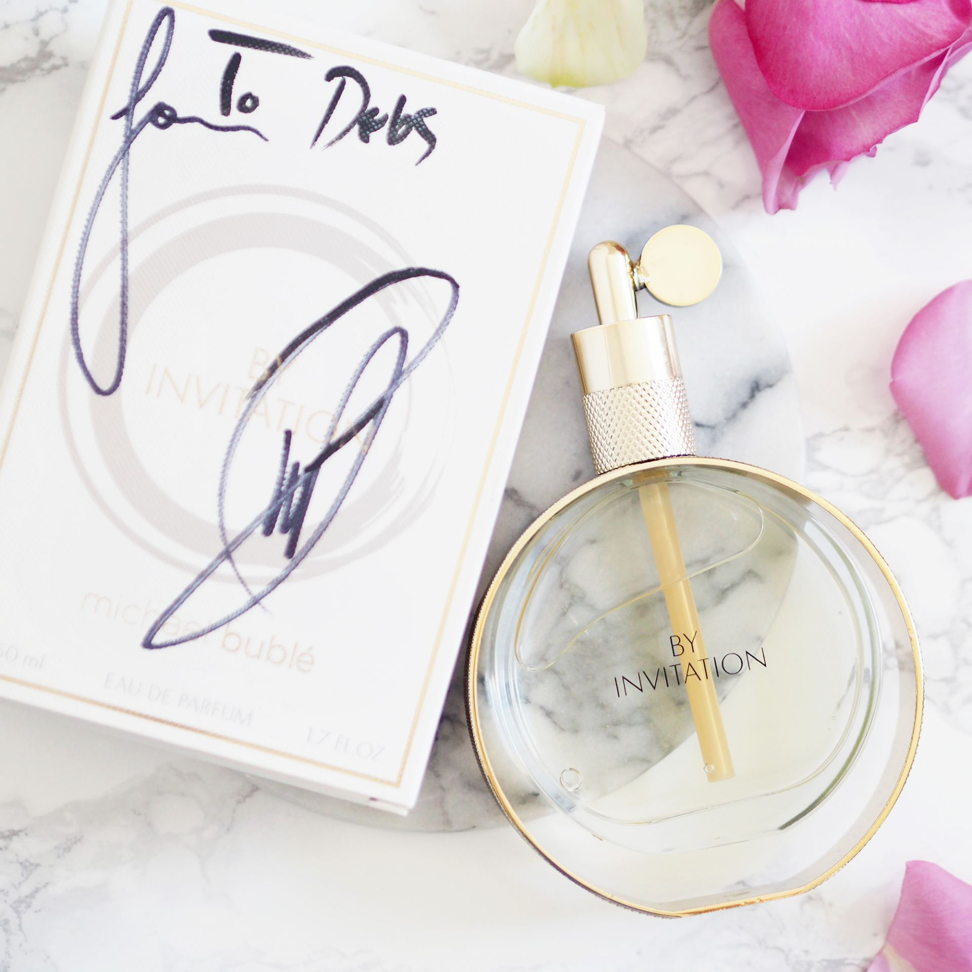 win signed michael buble perfume bottle