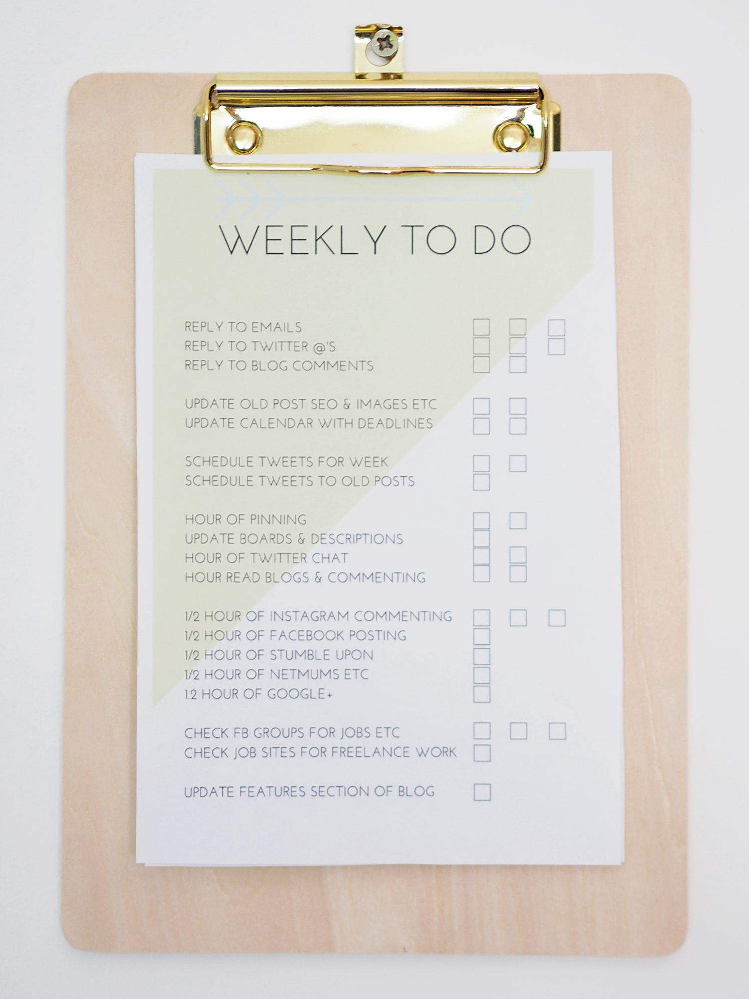 blog tick checklists