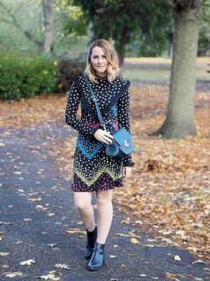 how to wear florals in autumn