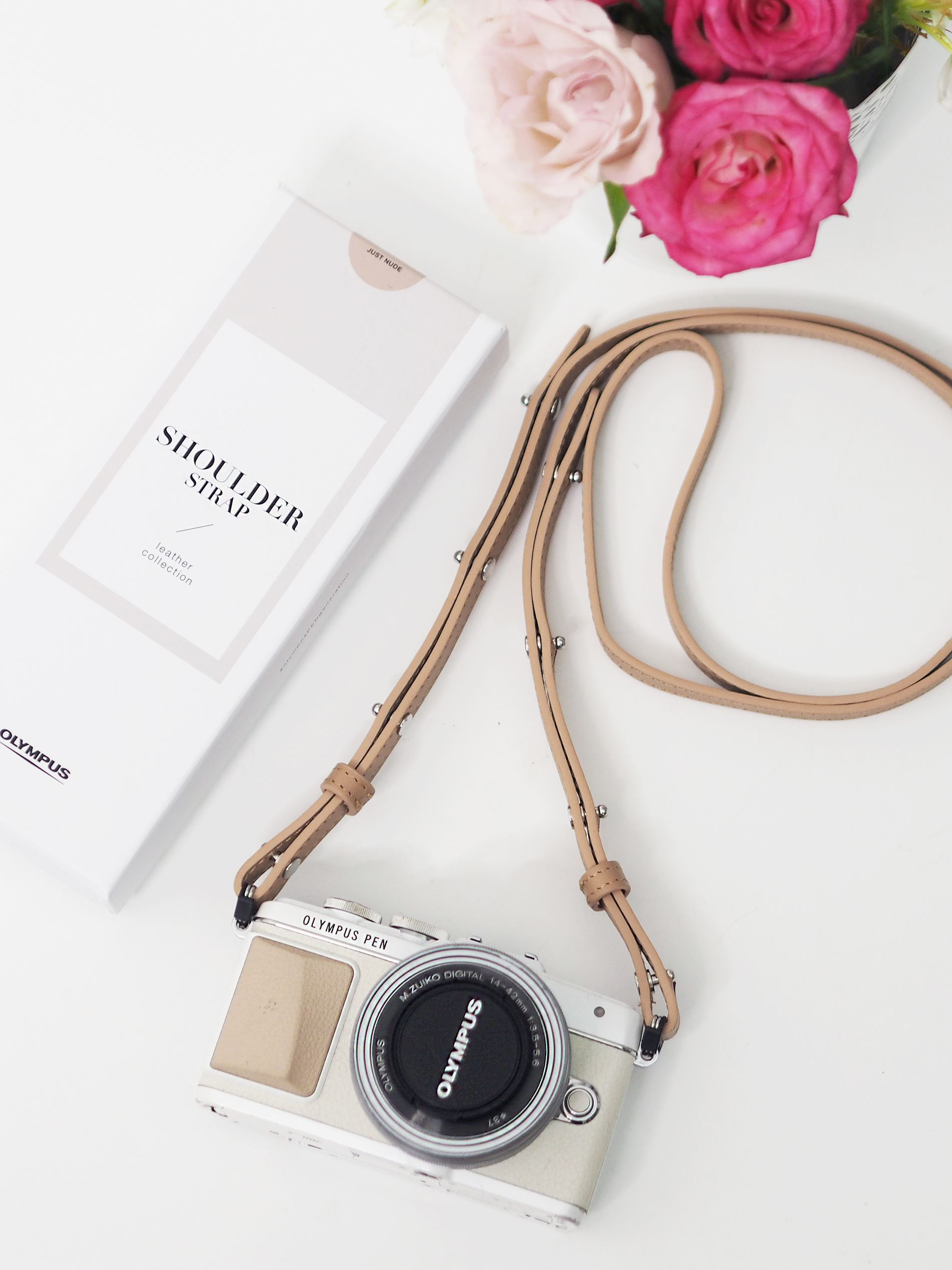 olympus pen nude leather strap