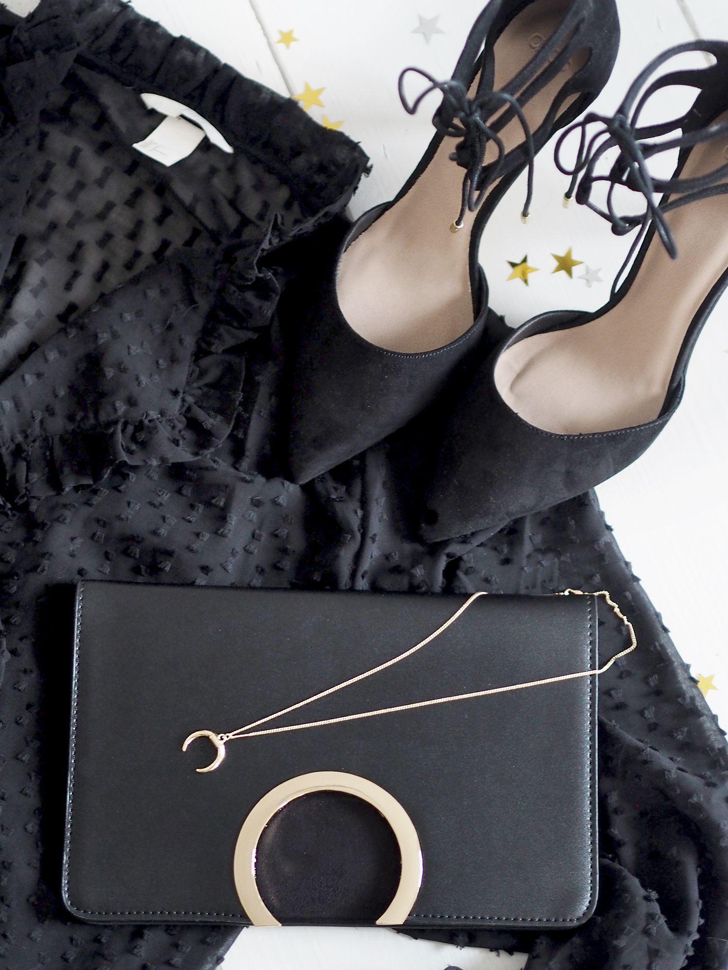 party heels and handbag christmas party