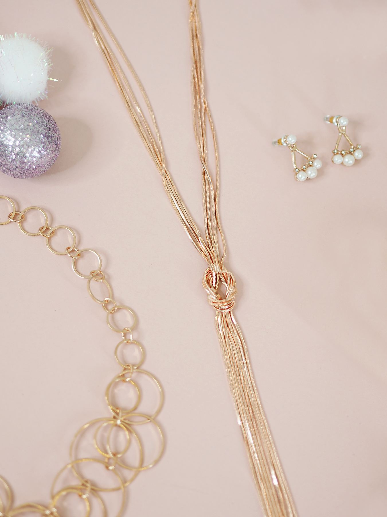 accessorize rose gold necklace