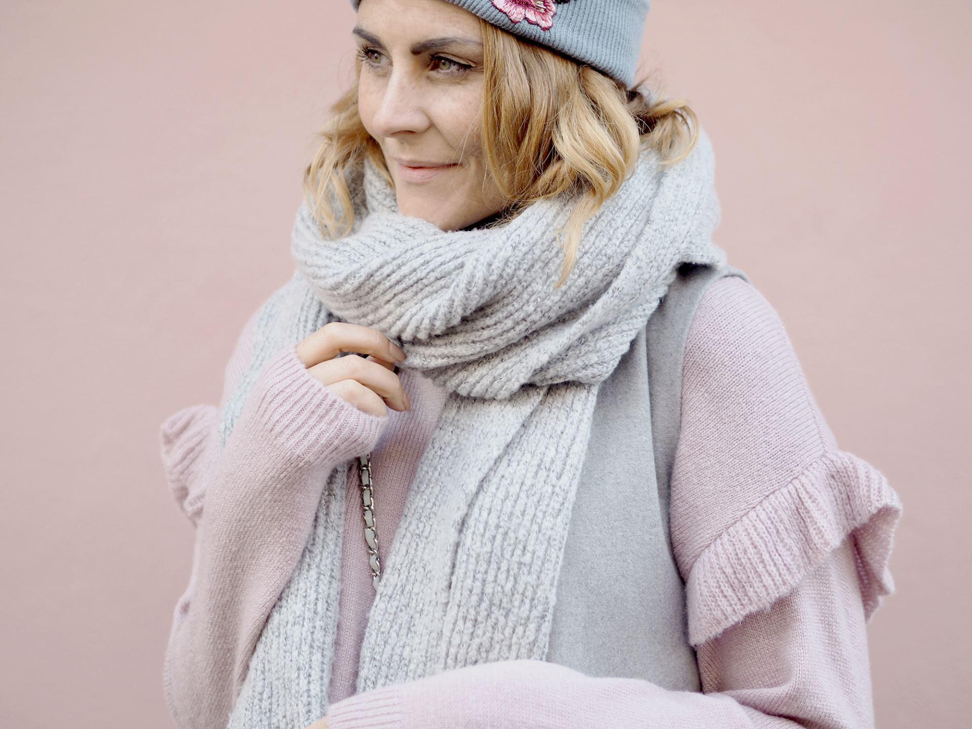 pink frill sleeve jumper new look
