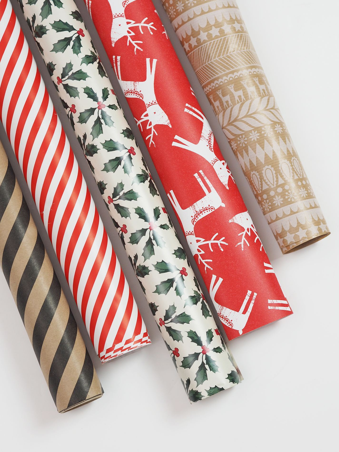 wrapping paper rolls