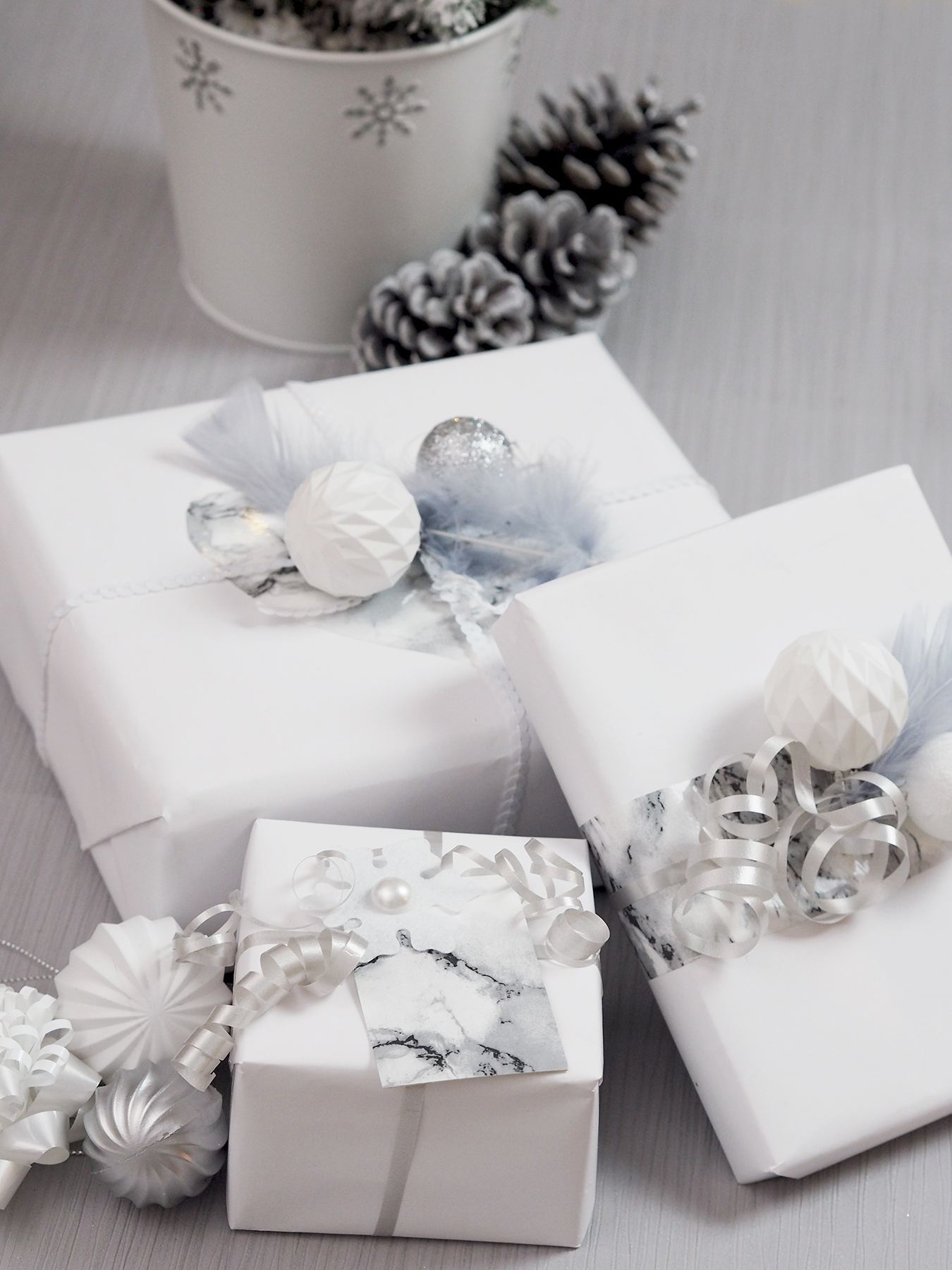 white present wrapping