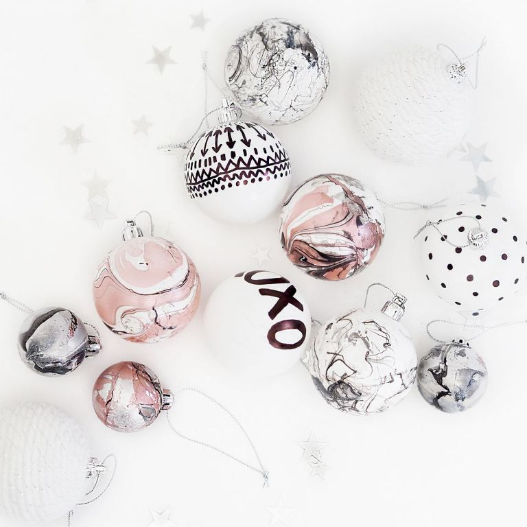 DIY Christmas baubles