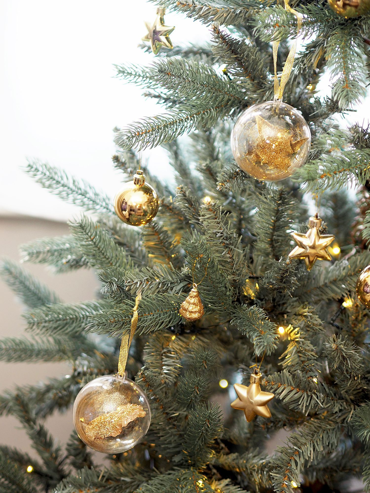 filled Christmas baubles