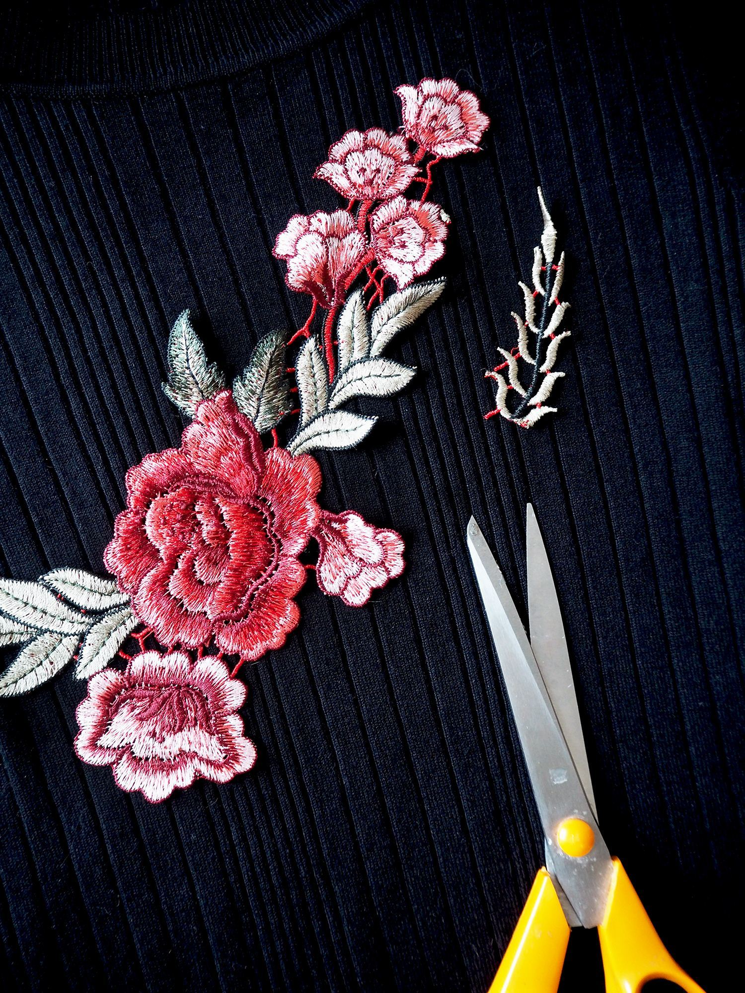 embroidered top DIY tutorial