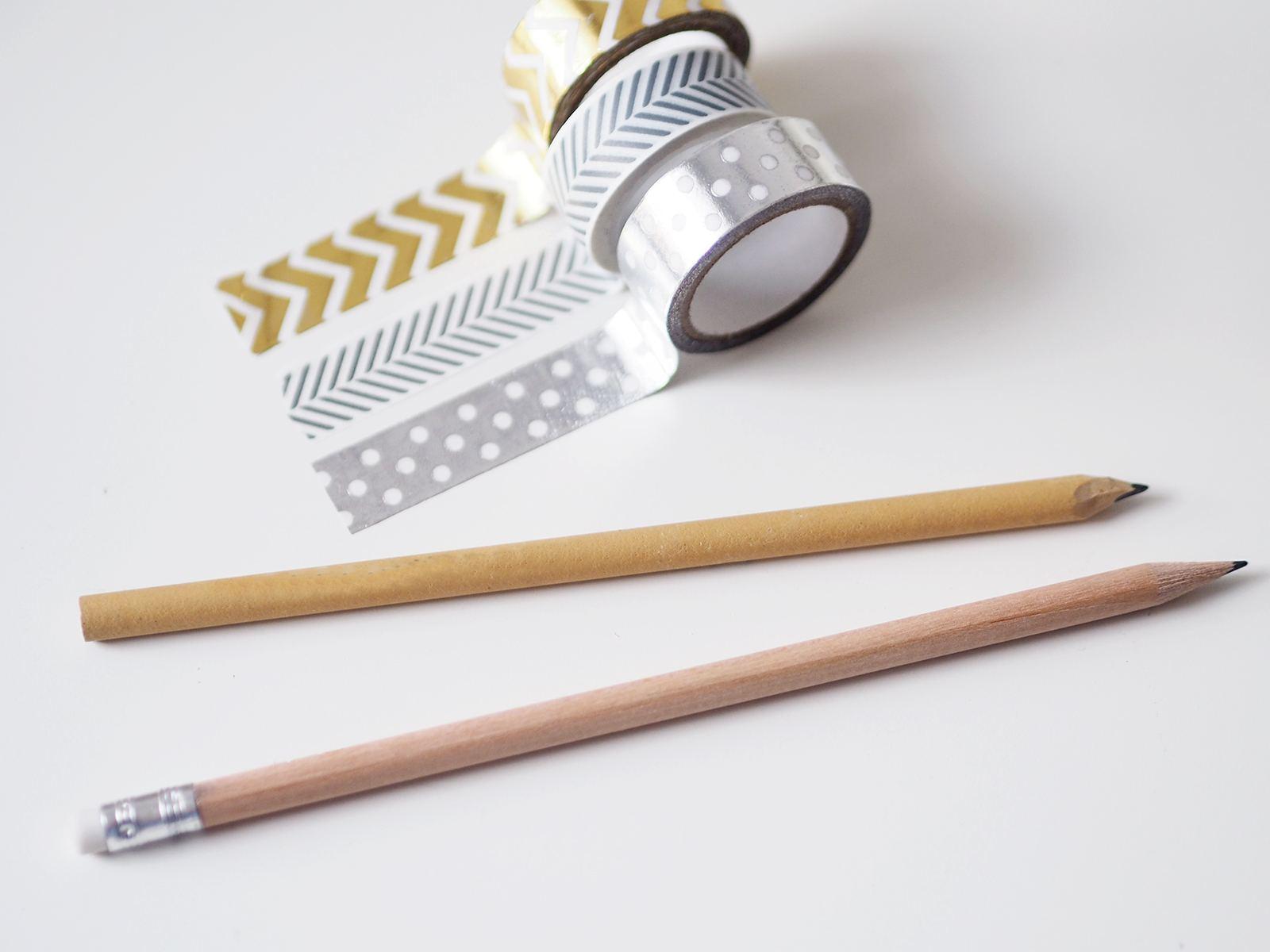 washi tape pencil diy