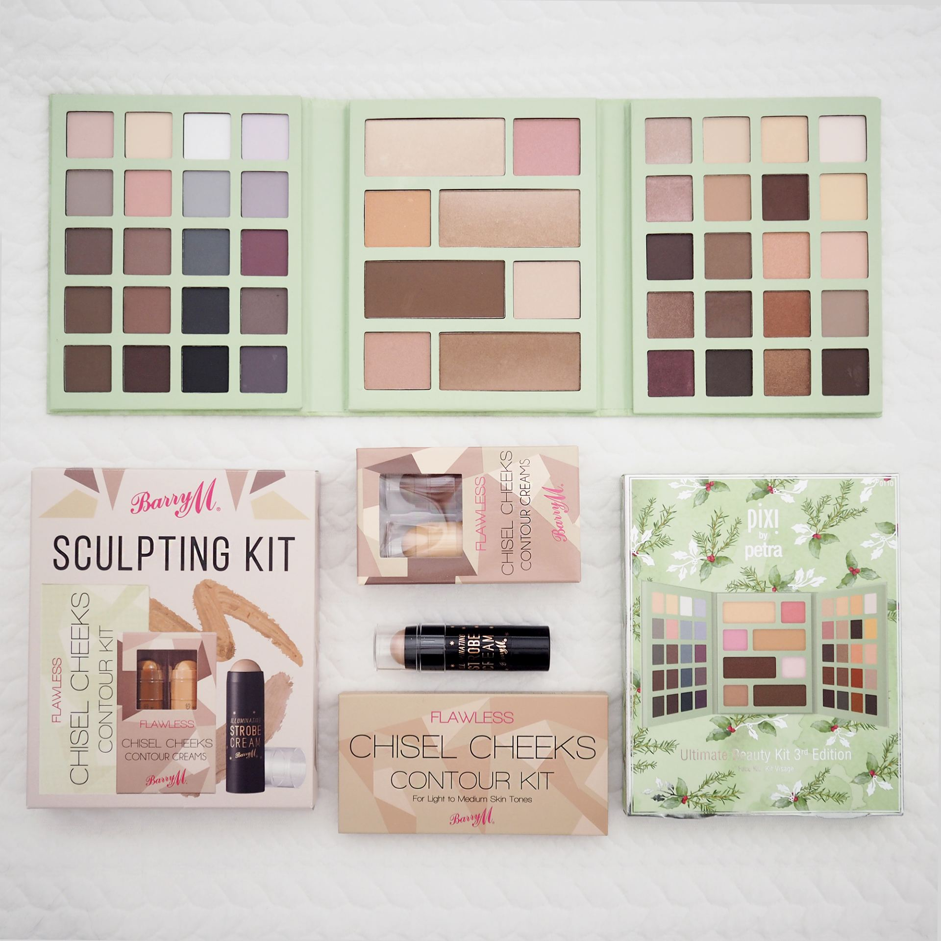 Pixi makeup palette and barry m contour kit