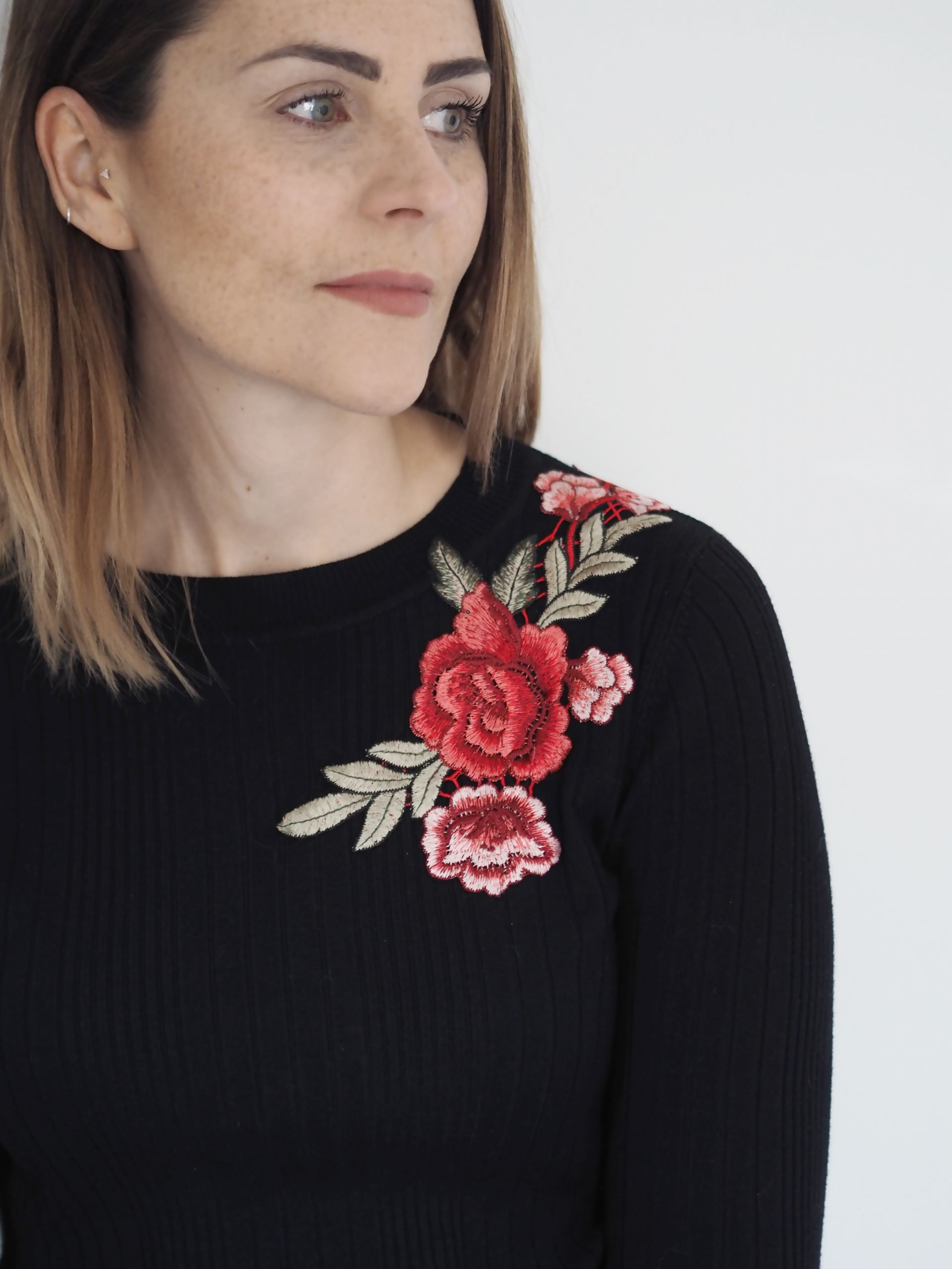 Floral Embroidered Top Diy