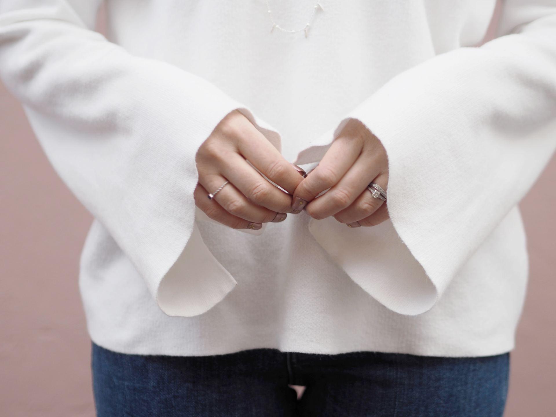bell sleeved jumper
