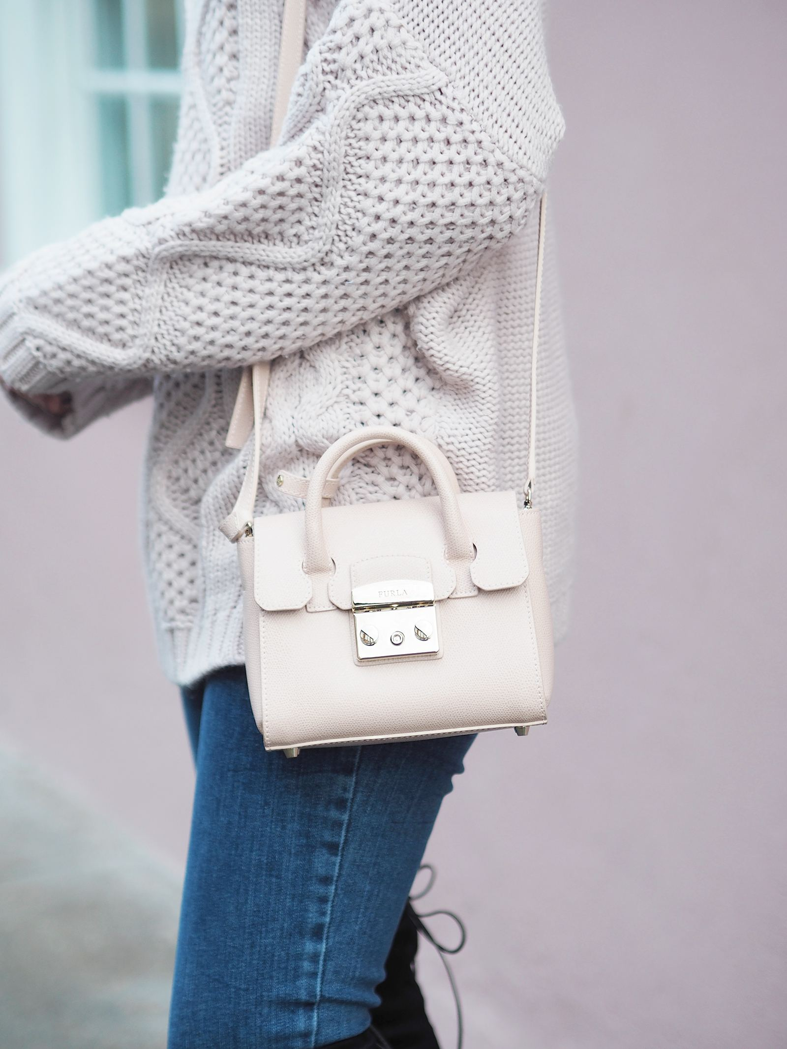 furla mini handbag pink
