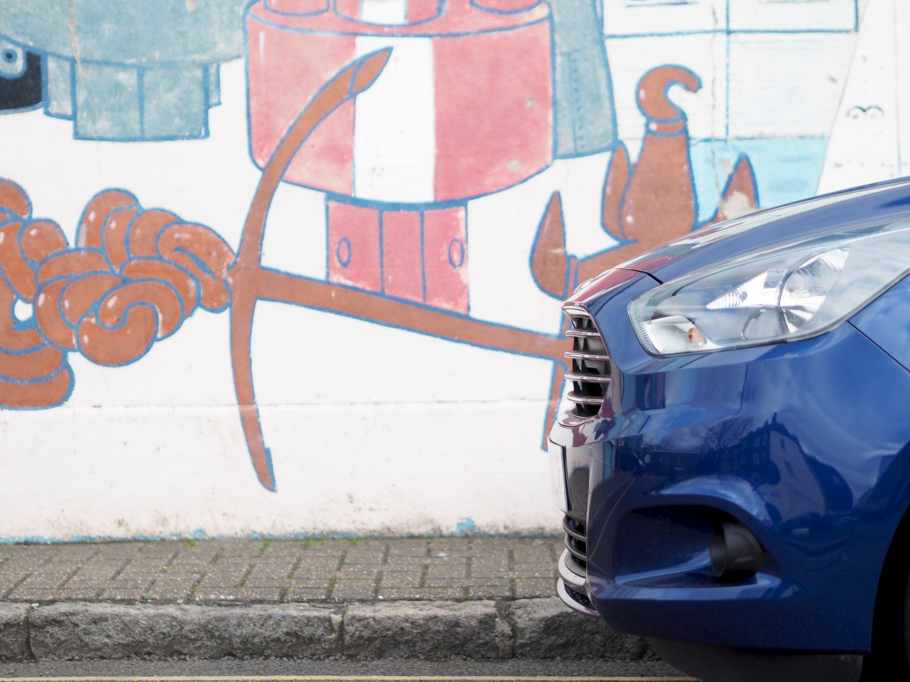 Ford KA+  in blue