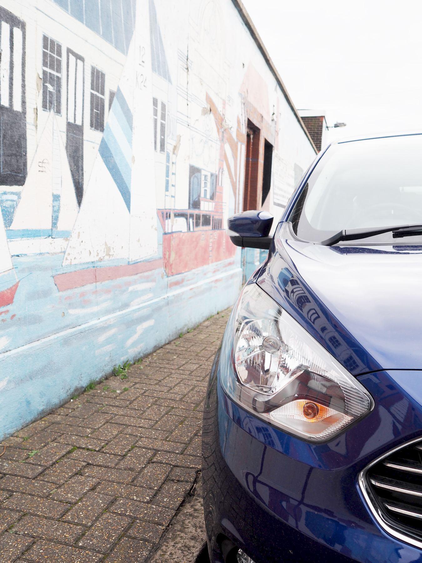 Ford KA Plus in blue