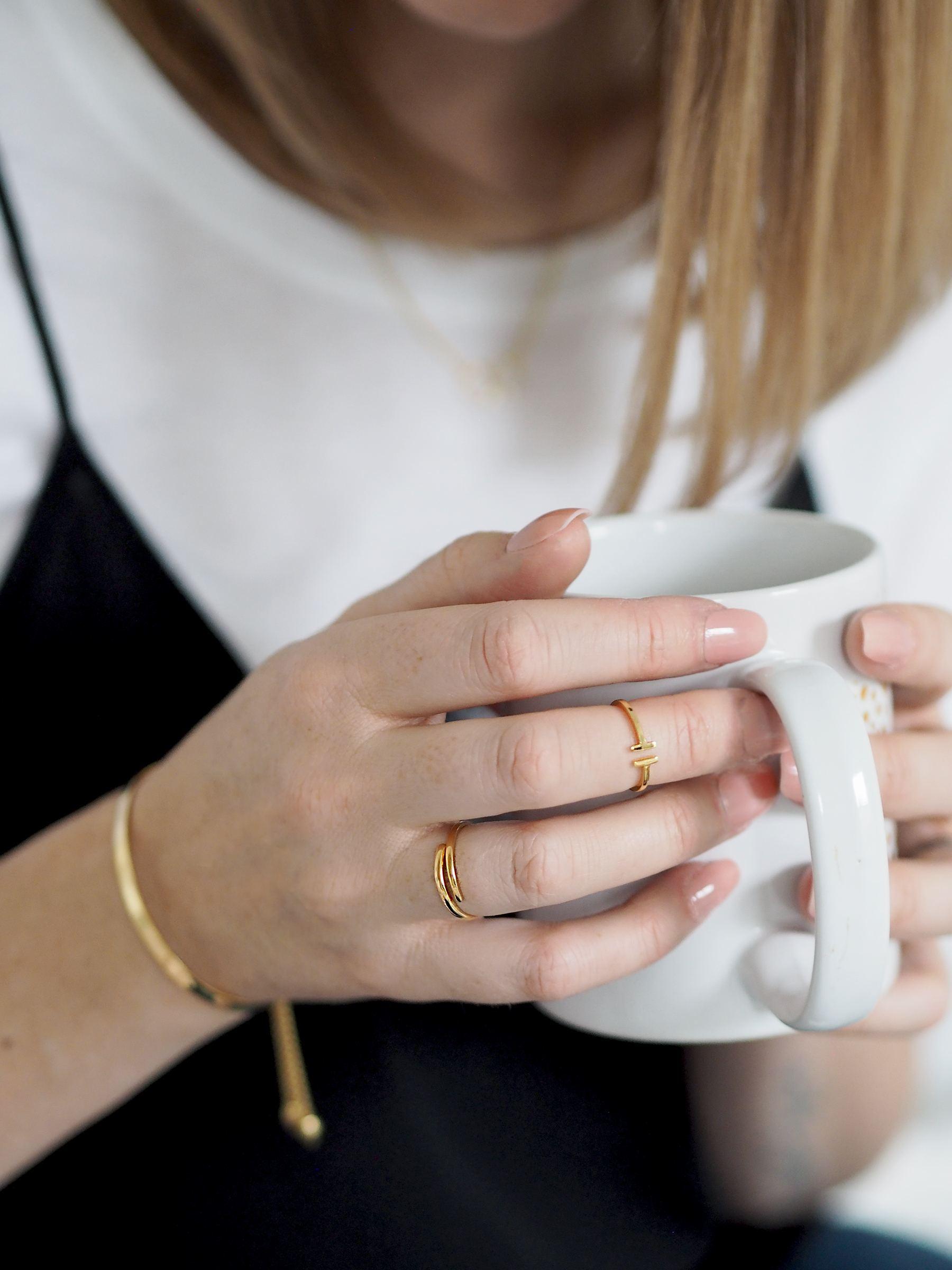jewellery box gold rings simple midi