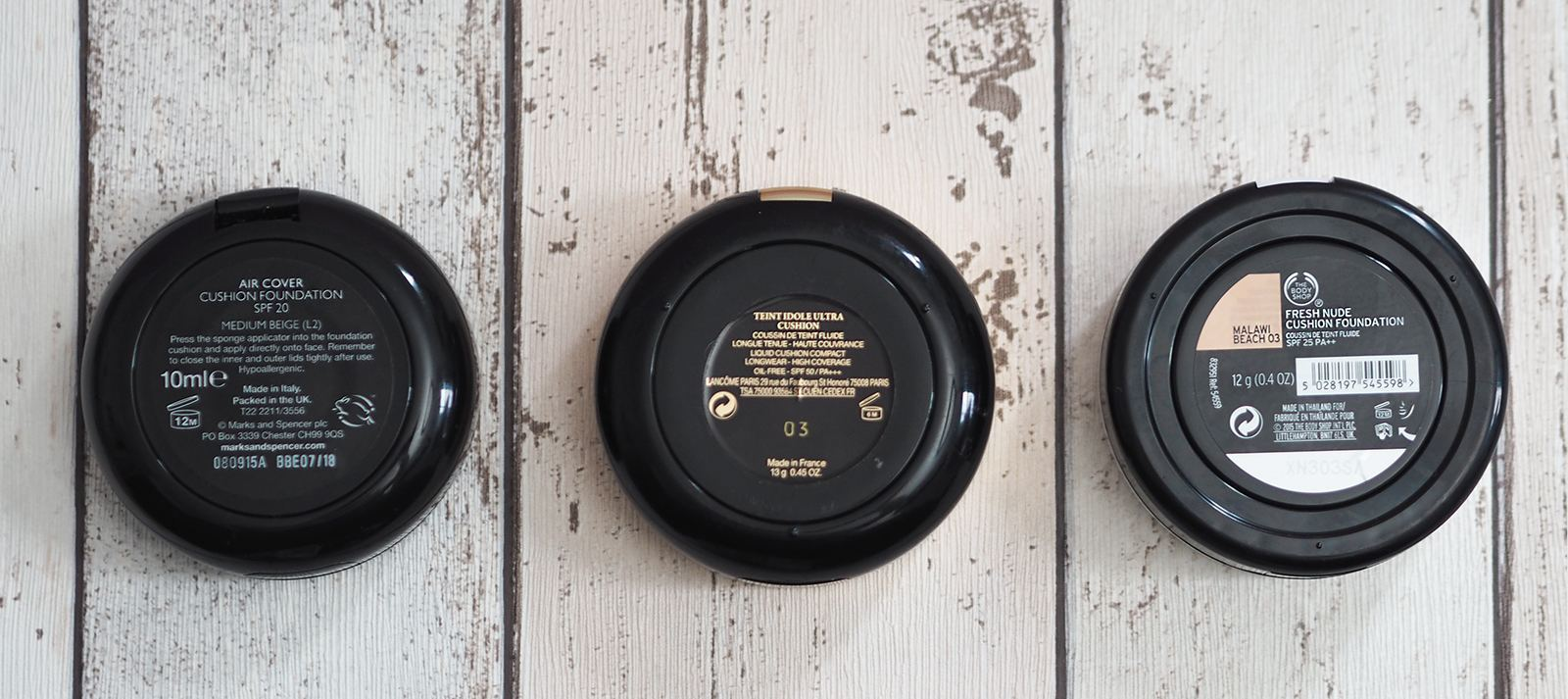 cushion foundations review lancome body shop marks and spencer