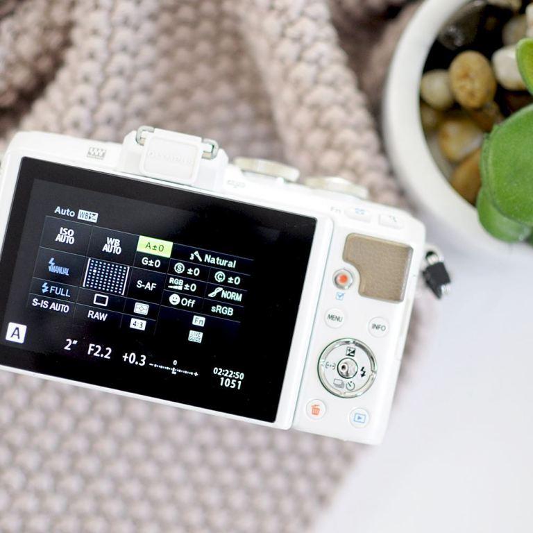 OLYMPUS PEN camera settings
