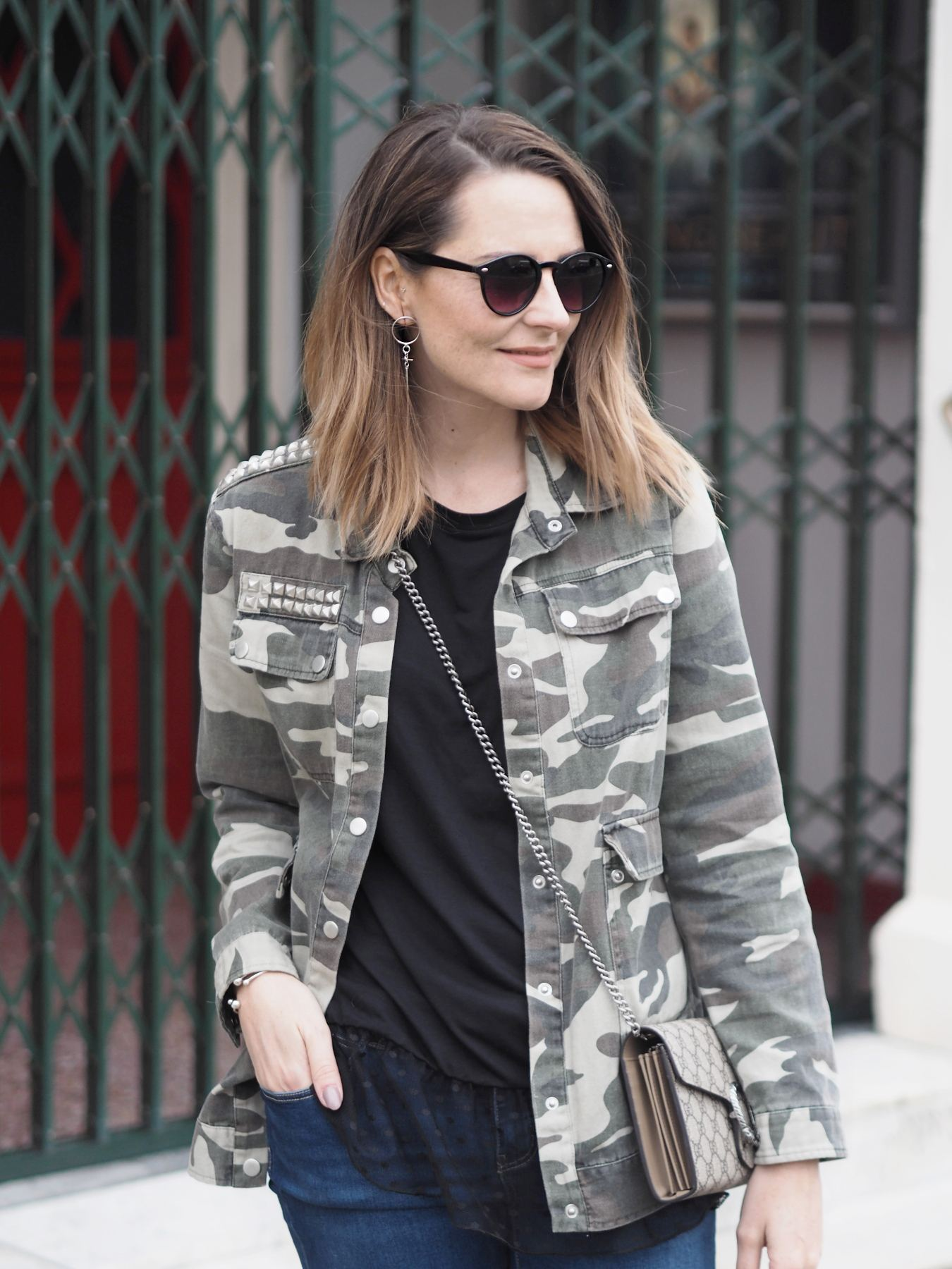 camouflage jackets outfit with jeans outfit