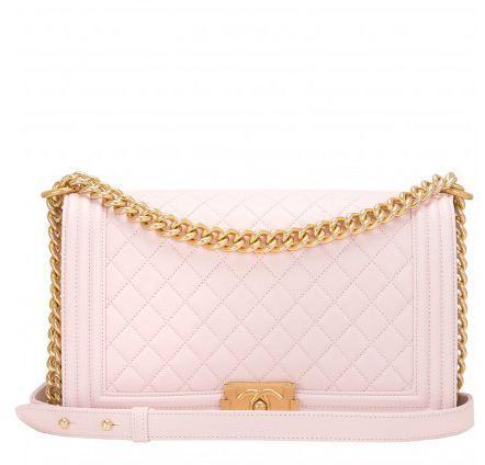 chanel boy bag pink
