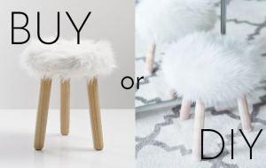 fluffy stool diy tutorial